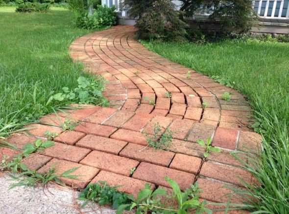 The beautiful brick path that leads to the Bahá'í Center on the corner of Dayton and High streets. (photos by Suzanne Szempruch)