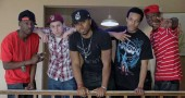 Homegrown hip-hop group Village Fam is bringing its annual Summer Jam music festival downtown in a collaboration with the Yellow Springs Arts Council. The live music and art event is 2 to 10 p.m., Saturday, August 9, at the YSAC Gallery, 111 Corry St. Members of Village Fam, which performs at 9 p.m., are, from left, Anthony Carter, Aaron Willis, Issa Walker, Brad Benning-Clark and Marcus Lamont. (Submitted photo)