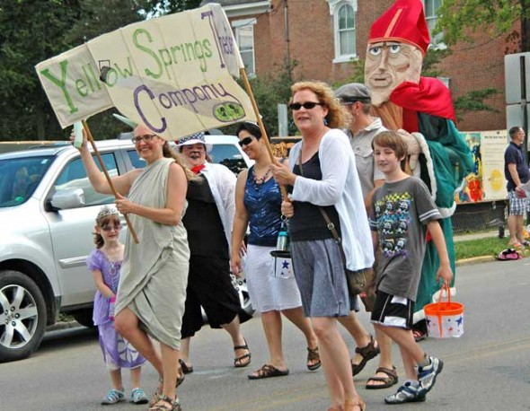 Members of the Yellow Springs Theater Company during this year's 4th of July Parade. (Photo by Lauren Heaton)