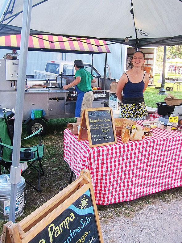 La Pampa's food stand