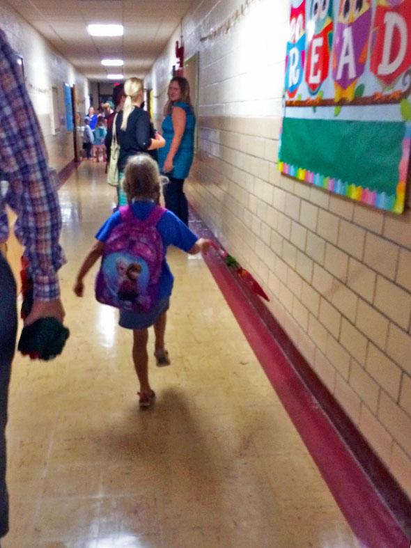 heading to new classroom
