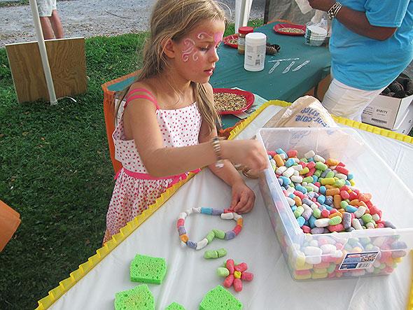 at children's activity tent