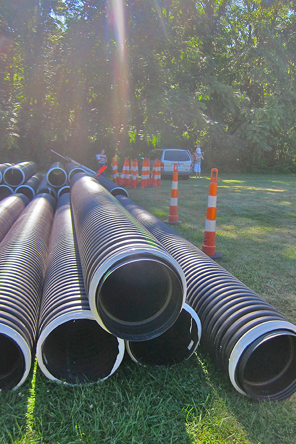 pipes ready to install