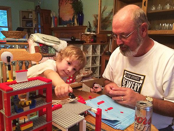 working with grandpa