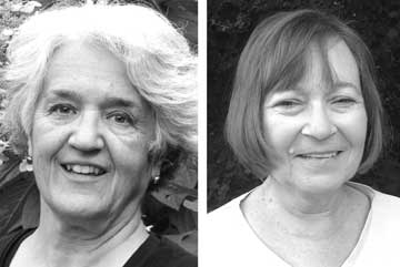 Aïda Merhemic, left, and Susan Stiles will be inducted into the Greene County Women's Hall of Fame on Sat., Sept. 27.