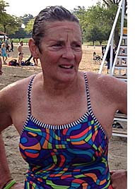 Judy Kintner won gold for open water swimming in the 2014 Gay Games. The Gay Games, held every four years, took place in  Cleveland in August. (Submitted photo)