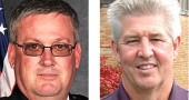 One week before closing the application deadline on Nov. 24, the Village narrowed its search for police chief significantly, naming two finalists out of the current pool of 18 applicants. (Left, submitted photo; right, Lauren Heaton)