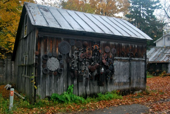 "The ""Scrap Barn"" on Stafford Street is a unique and recognizable building in town. (photo by Aaron Zaremsky)"