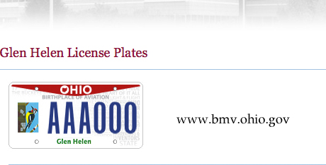 The Glen Helen license plate can be purchased online, or at a Bureau of Motor Vehicles location.