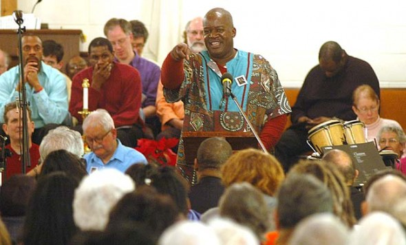 Bomani Moyenda was the MC of last year's celebration of Dr. Martin Luther King Jr. at the Central Chapel AME Church.