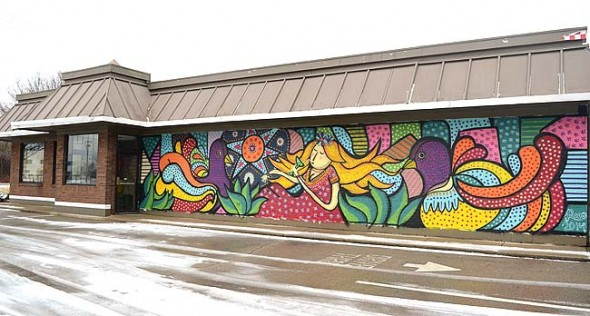 Dona Margarota's, a new Mexican restaurant on the south side of town, is working towards opening its doors in 2015. Last year visual artist Rodrigo Onate (Roco) completed this mural on the restaurant's facade and redesigned its interior. (Photo by Megan Bachman)