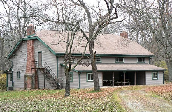 The 30-acre property off Grinnell Road has a lodge and several rustic camp facilities.