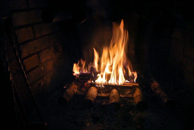 Aaron's Lens - A Cozy Fire
