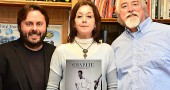 Local magazine publisher and communications company Ertel Publishing recently purchased CHARLIE, a regional magazine that covers the arts and culture of Charleston, S.C. From left are Ertel's owners Ben Smith, Vicki Ertel and Patrick Ertel with a copy of the magazine. (Submitted photo)