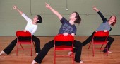 "Jill Becker, Katie Gaines and Angie Bogner will perform ""Chair Dancin"" to the 1933 song ""Let's Fall in Love"" at this weekend's Community Dance Concert."