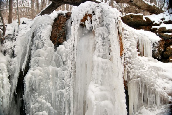 A frozen cascade in the Glen (photo by Aaron Zaremsky)