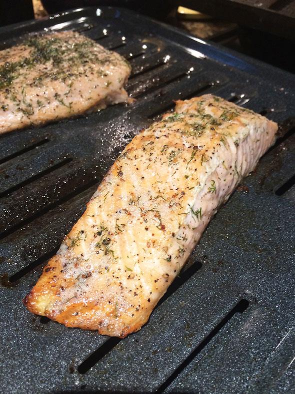 seasoned salmon