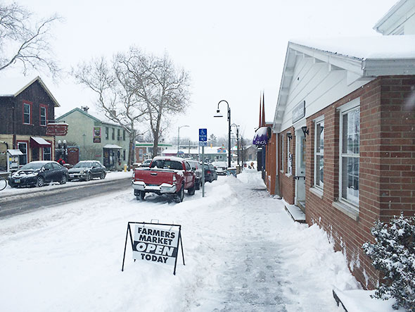 snowy day at the YS Senior Center