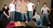 "The Jets of ""West Side Story"" perform an energetic self promoting number, starring from left, Duard Headley, Meredith Rowe, Bear Wright, Josh Seitz as Riff, Jonah Trillana, Ursula Kremer, Christina Brewer,   David Walker, and in front, Sumayah Chappelle and Zoe Williams. The show opens this weekend at the Antioch College Foundry Theater."