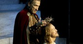 "Barry Denned, as Pilate, places the crown of thorns on the head of Ted Neeley, as Jesus in a stage revival of ""Jesus Christ Superstar."" Both Dennen and Neeley will be in Yellow Springs March 27–29 for screenings of the film and Q&A at the Little Art."