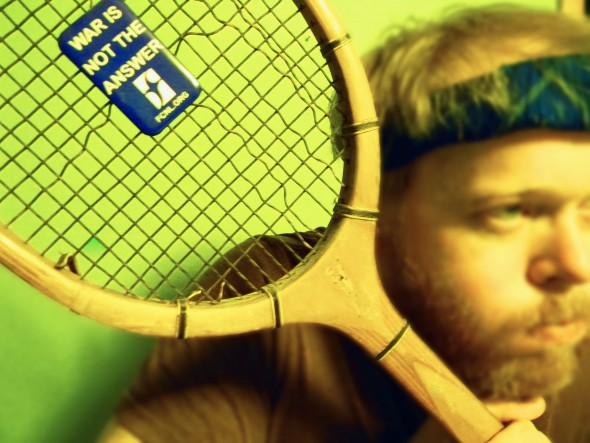 A handsome villager prepares for a game of racquetball — with a twist.