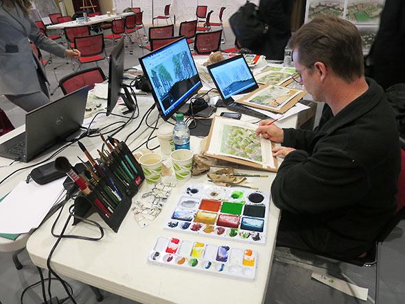 illustrators worktable