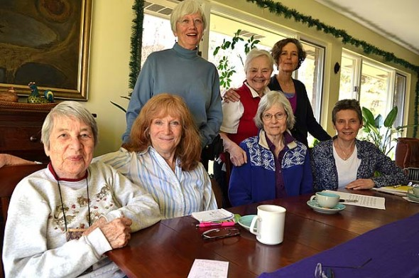 Founded in 1980, the Feminist Health Fund raises money from the community and disperses it to needy women suffering from a catastrophic illness. Current board members are, clockwise from front, Esther Hetzler, Kathy Robertson, Sue Parker, Janet Ward, Joyce Morrissey, Denise Cupps and Marianne Whelchel. Not pictured is Elizabeth Danowski. (Photo by Megan Bachman)