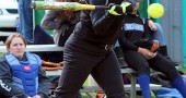 Yellow Springs High School softball player Elly Kumbusky hit for the Lady Bulldogs on Thursday, April 23, against defending conference champions Dayton Christian. (Submitted photo)