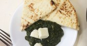saag paneer with naan