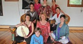 A group of local yoga teachers — along with dance, fitness and drumming practitioners — recently formed the Kula Cooperative, a collaborative offering classes for adults and children at the Casa de Paz retreat space on Corry Street. Members are, from left, in front, Nicole Manieri with son Gabriel Manieri, Marcia Sauer and Amy Chavez; second row, Kim Krier and Jill Becker; third row, administrator Sandy Riorden, Katy Gaines and Carmen Milano. Members not pictured are Paula Hurwitz, Melissa Tinker, Larissa McHugh, Leslie Dworkin, Liz Sanchez and Linda Hamilton. (Photo by Megan Bachman)