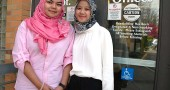 Nadia Jalawi, left, of Malaysia, and Ratih Rahmadanti of Indonesia are visiting Yellow Springs for a month as part of a cultural and business exchange sponsored by the U.S. State Department and the International City/County Management Association.