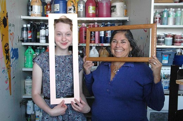 Nadia Mulhall received the first award this year from the Lisa Goldberg YS Arts Scholarship, established by ceramic artist and art supporter Lisa Goldberg to help young people or college-bound seniors further their education in the arts. (Photo by Lauren Heaton)