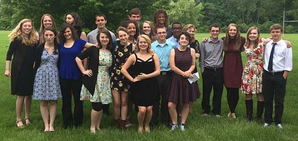The following students were named to the National Honor Society: Dylan Boczar, David Butcher, Ian Chick, Sam Crawford, Liam Creighton, Kara Edwards, Rachel Hammond, Ben Ihrig, Sarah Jako, Edward Johnson, Alex Kellogg, Anna Knippling, Jennifer Lawson, Izzy Long, Mollye Malone, Nadia Mulhall, Emma Romohr, Kaila Russell, Josh Seitz, Jessica Worsham and Anna Williamson. (Submitted photo)