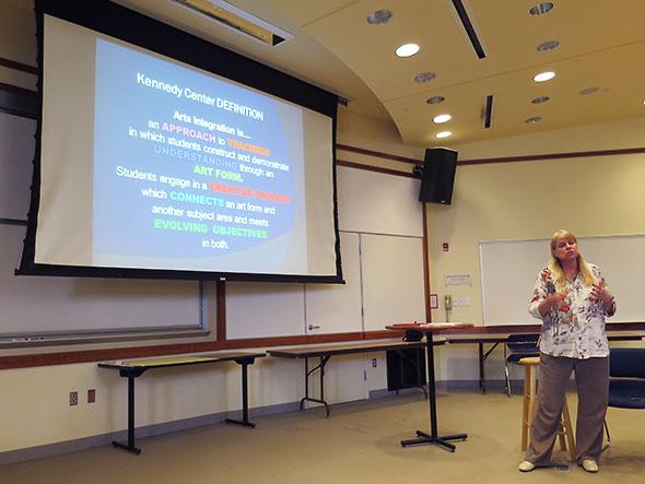 Karen Erickson gives the Kennedy Center's definition of arts integration
