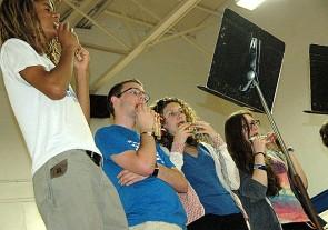 The YSHS pan pipe orchestra performed at PBL night May 19.