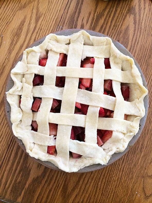 lattice for strawberry rhubarb pie