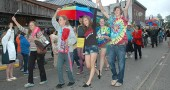 Several hundred took part in Saturday's 4th Annual Yellow Springs Pride parade.
