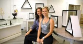 This week Stephanie Gooch, left, and Melissa Herzog open House of AUM, a mind-body business offering daily yoga classes, monthly weekend yoga retreats and a retail shop with vintage, upcycled and fair trade jewelry, clothing and home goods. House of AUM is at 125 S. Walnut St. in the rear of Kings Yard, formerly the site of Atomic Fox and the Tie Dyed Gift Shop. (Photo by Megan Bachman)