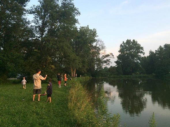 Members of the Yellow Springs Cub and Boy Scout Troops held an Ellis Pond picnic Monday to celebrate the elimination of discrimination against gays by the Boy Scouts of America. (Submitted photo by Lake Miller)