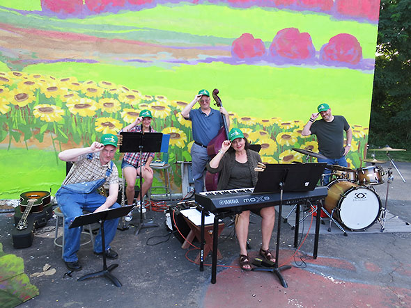 The Farm Band tips their hats