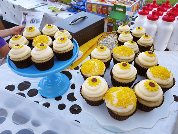 cupcakes at concession table for YSKP production of The Farm