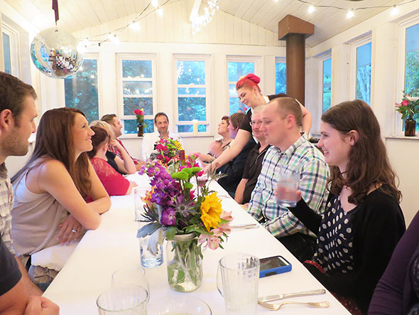 A farm to table gluten free Dinner hosted by the Tipton family, owners of the local business Neighborhood Nest