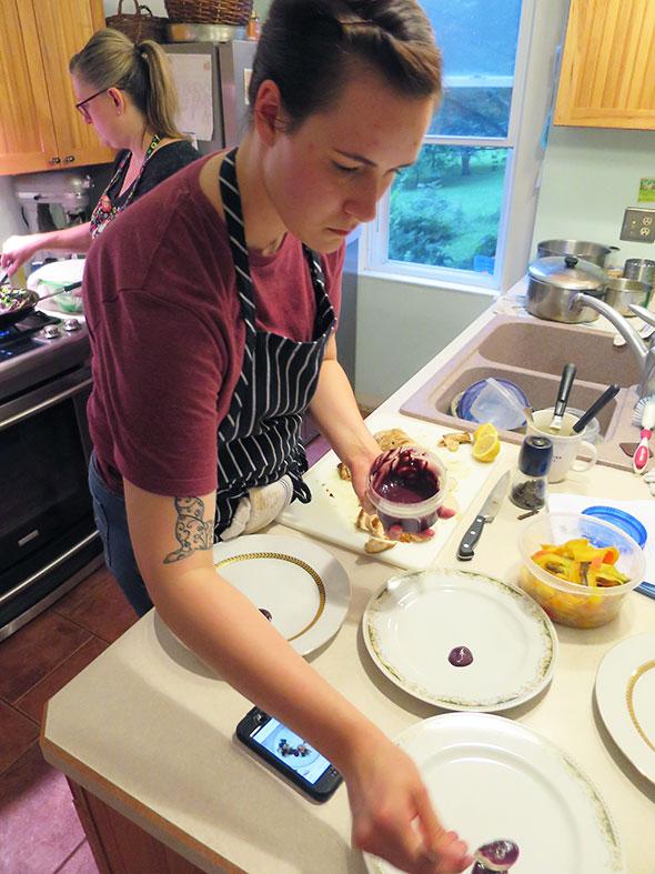 prepping plates
