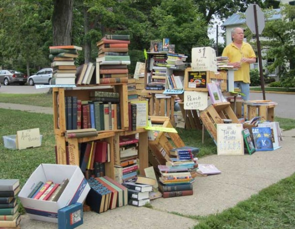 The 35th Annual Yellow Springs Book Fair will take place this Saturday, Aug. 15, from 8 a.m. to 4 p.m. on the grounds of Mills Lawn School. Shown is a scene from last year's fair.