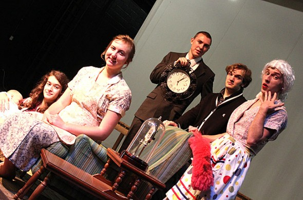 """Cast in Thornton Wilder's play, """"The Skin of Our Teeth."""""""