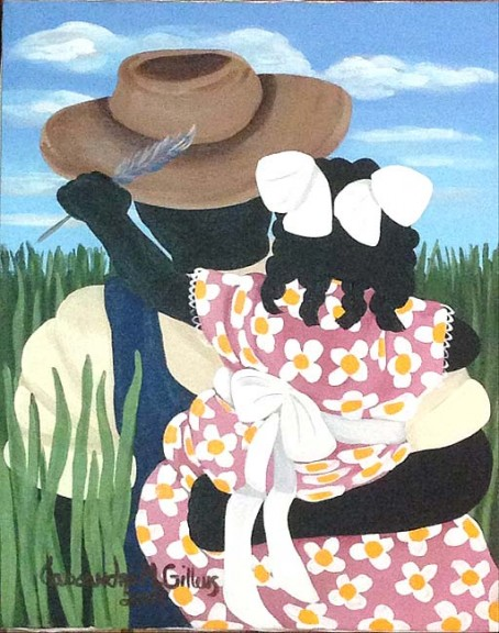 Painting by Cassandra Gillens from Jim and Betty Felder's collection. Gillens is a self-taught artist from the Gullah community of South Carolina who has exhibited widely in the United States and overseas.