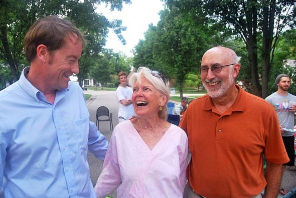 Len Kramer, Sylvia Carter-Denny and Thad Tarpey helped organize the party.