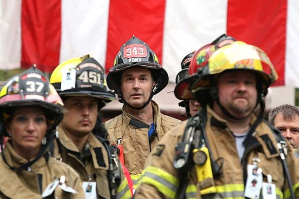 MTFR personnel, Bob Cooper, stood at attention during the event's opening ceremony. (Submitted photo by Patrick O'Reilly)