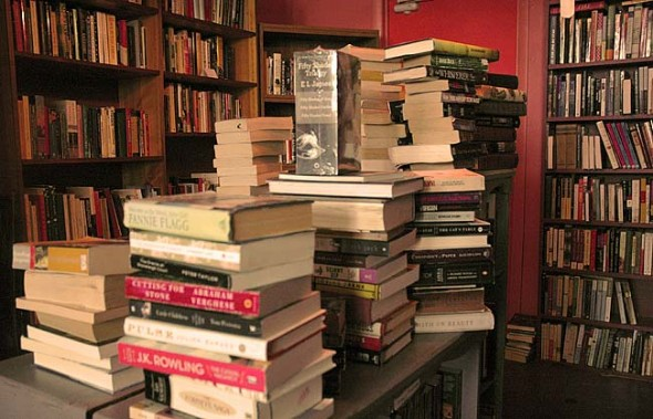 Stacks courtesy of Epic Books in Yellow Springs