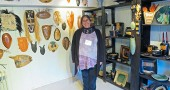 Lisa Goldberg at her Ceramic Studio